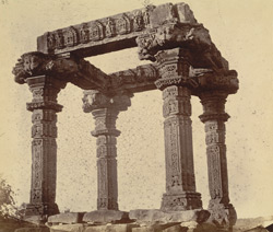 Ruins of the ''Charkhambha'' Temple, Gyaraspur